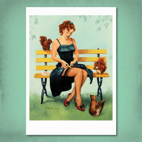 Nuts For You Pin-Up Print