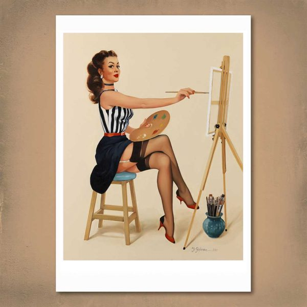 Pretty as a Picture Pin-Up Print A2