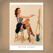 Pretty as a Picture Pin-Up Print A3