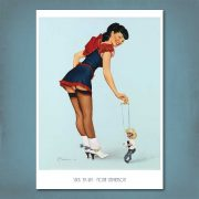 Stick 'Em Up Pin-Up Print