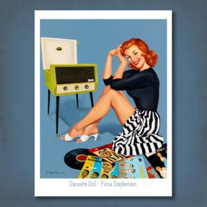 Dansette Doll Print Fiona Stephenson