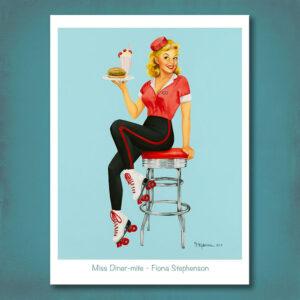 Miss Diner-mite Print Fiona Stephenson