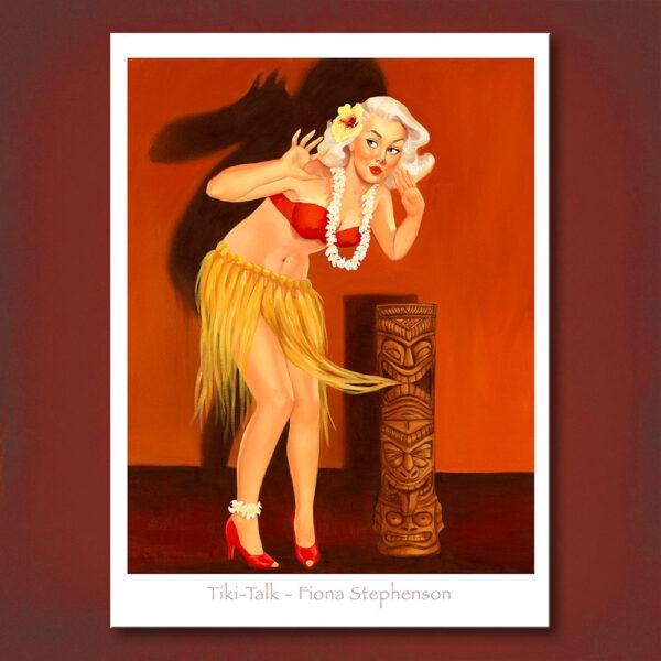 Tiki-Talk Print Fiona Stephenson